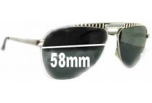 Dolce & Gabbana DG6014 Replacement Sunglass Lenses - 58mm wide