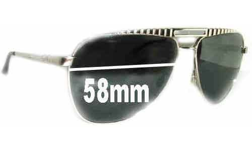 Dolce & Gabbana DG6014 Replacement Sunglass Lenses - 58mm wide