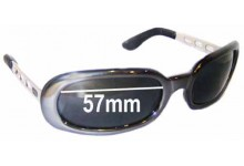 Diesel Striplight Replacement Sunglass Lenses - 57mm wide