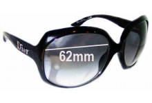 Dior Glossy 1 Replacement Sunglass Lenses - 62mm wide