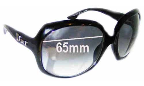 Dior Glossy 1 Replacement Sunglass Lenses - 65mm wide