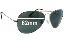 Christian Dior 0049S Homme Replacement Sunglass Lenses - 62mm Wide