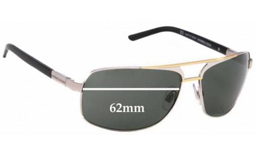 Dolce & Gabbana DG2049 Replacement Sunglass Lenses - 62mm wide