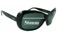 Dolce & Gabbana DG8074 Replacement Sunglass Lenses - 56mm wide