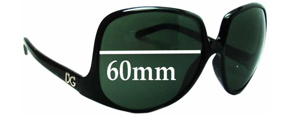 Dolce & Gabbana DG6033 Replacement Sunglass Lenses - 60mm wide