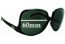 Dolce & Gabbana DG6033 Replacement Sunglass Lenses - 60mm wide
