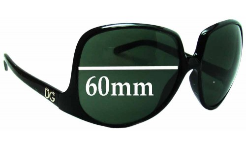 Sunglass Fix Replacement Lenses for Dolce & Gabbana DG6033 - 60mm wide