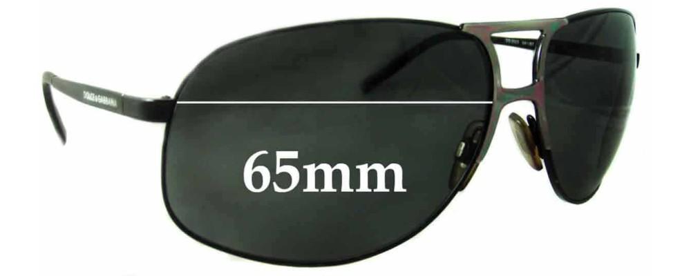 Dolce & Gabbana DG2023 Replacement Sunglass Lenses- 65mm Wide