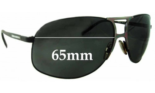 Sunglass Fix Replacement Lenses for Dolce & Gabbana DG2023 Replacement Sunglass Lenses- 65mm Wide