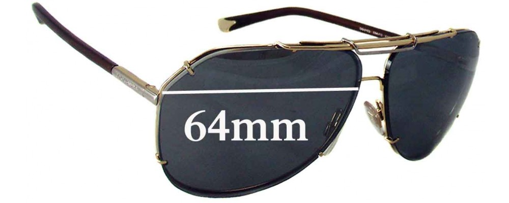 Dolce & Gabbana DG2102 Replacement Sunglass Lenses - 64mm wide