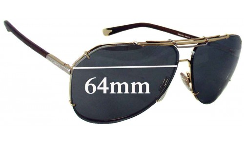 Sunglass Fix Replacement Lenses for Dolce & Gabbana DG2102 - 64mm wide