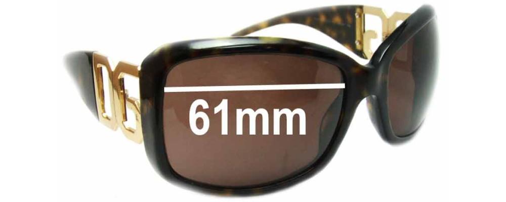 Dolce & Gabbana DG4005-B Replacement Sunglass Lenses - 61mm wide