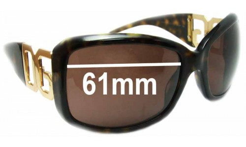 Dolce & Gabbana DG4005-B Replacement Sunglass Lenses - 61mm wide