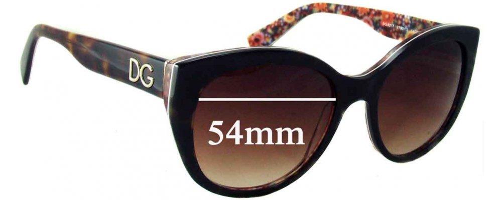 Dolce & Gabbana DG4217 Replacement Sunglass Lenses - 54mm wide
