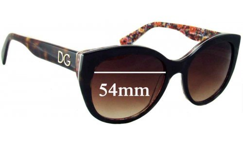 Dolce & Gabbana DG4217 Replacement Sunglass Lenses - 54mm wide