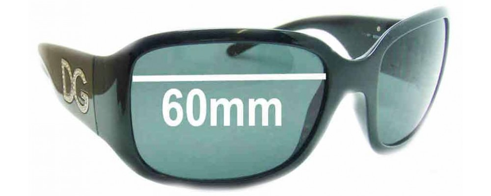 Dolce & Gabbana DG6038 Replacement Sunglass Lenses- 60mm Wide