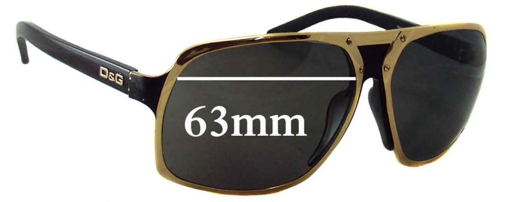 Dolce & Gabbana D&G 6050 Replacement Sunglass Lenses - 63mm Wide