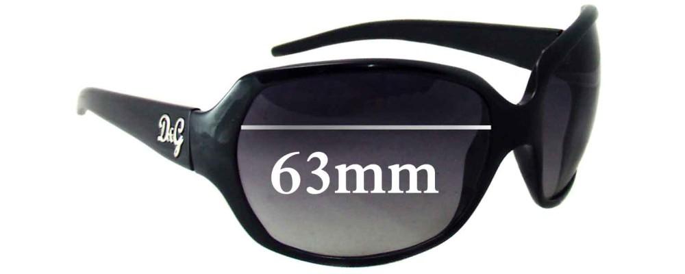 Dolce & Gabbana DG8018 Replacement Sunglass Lenses - 63mm Wide