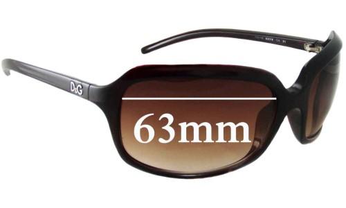 Dolce & Gabbana DG8071 Replacement Sunglass Lenses - 63mm Wide