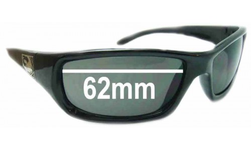 Dragon Chrome New Sunglass Lenses - 62mm Wide