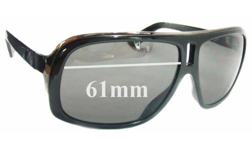 Dragon GG Replacement Sunglass Lenses - 61mm wide