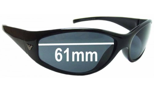 EMPORIO ARMANI 9032/S Replacement Sunglass Lenses - 61mm Wide