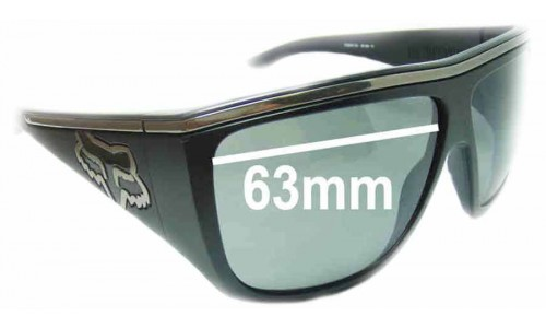 Fox The Rayavana Replacement Sunglass Lenses - 63mm Wide
