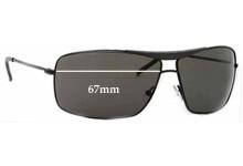 Giorgio Armani GA 140/S Replacement Sunglass Lenses - 67mm wide
