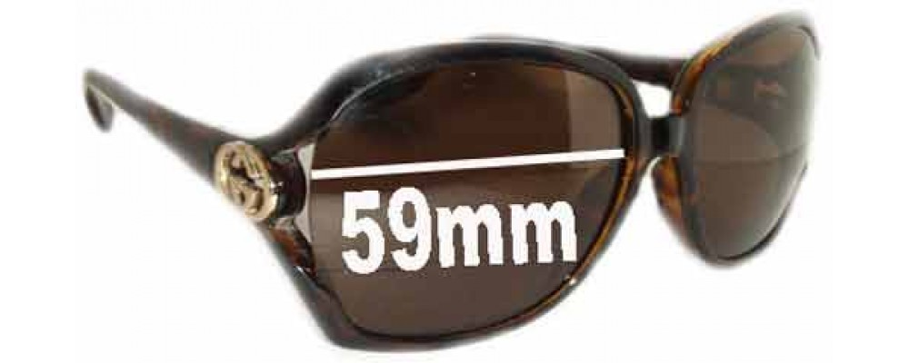 Gucci GG2986/S Replacement Sunglass Lenses - 59mm Wide