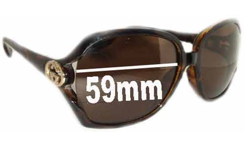 Gucci GG2986/S New Sunglass Lenses - 59mm Wide