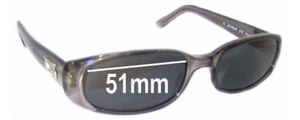 Gucci GG2452/S Replacement Sunglass Lenses - 51mm wide
