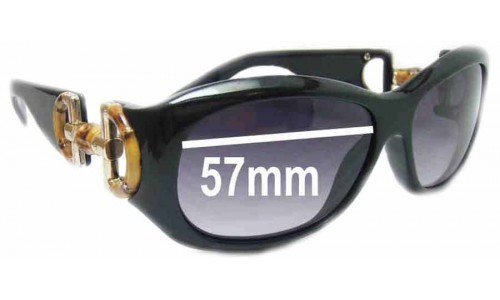 Gucci GG2970/S Replacement Sunglass Lenses - 57mm wide