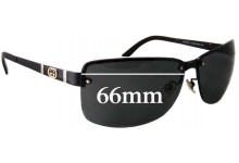 Gucci GG4235/F/S Replacement Sunglass Lenses - 66mm wide