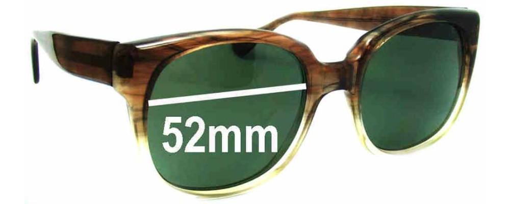 J Cooper 145 JFM Replacement Sunglass Lenses - 52mm Wide