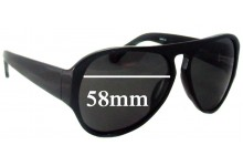 Linda Farrow Dries Van Notes DVN/26/6 Replacement Sunglass Lenses - 58mm Wide