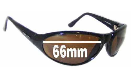Mako Muss 9459 Replacement Sunglass Lenses - 66mm Wide
