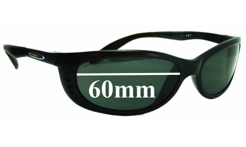 Mako Sleek 9371 Replacement Sunglass Lenses - 60mm