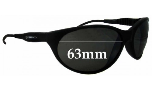 Mako Unknown Model Replacement Sunglass Lenses - 63mm wide