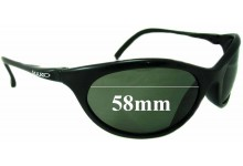 Mako Warrior 9332 Replacement Sunglass Lenses - 58mm wide