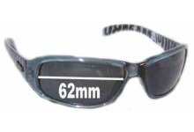 Mambo Top Dog Replacement Sunglass Lenses - 62mm Wide