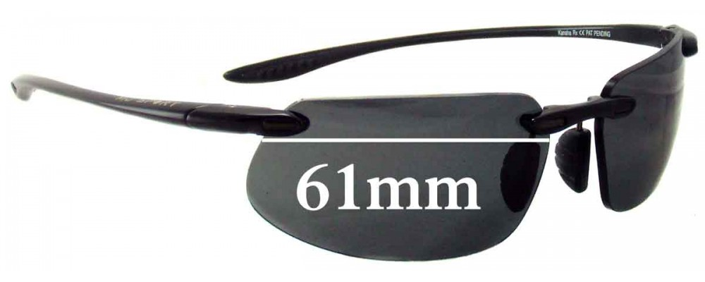 3e83890484 Sunglass Fix Replacement Lenses for Maui Jim MJ909 Kanaha (MJ409  Prescription Frames) - 61mm