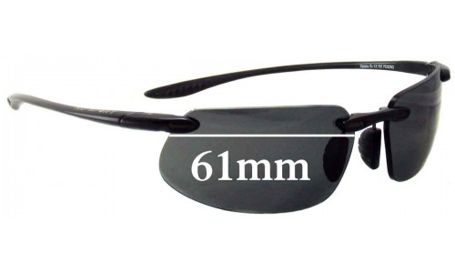Maui Jim MJ909 -Kanaha Replacement Sunglass Lenses - 61mm Wide - Must be Installed in our Lab please order Custom Made Lenses