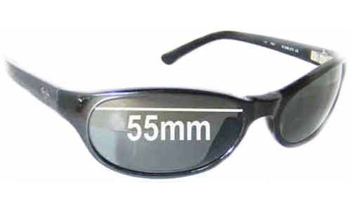 Maui Jim MJ136 Cyclone Replacement Sunglass Lenses - 55mm Wide