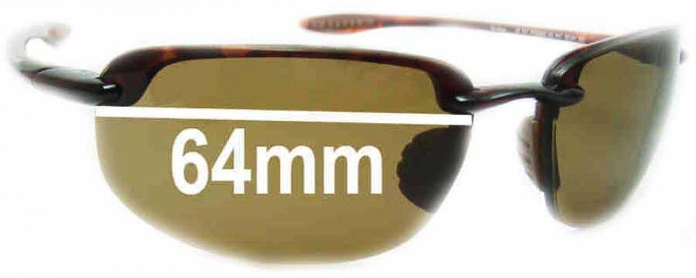 Maui Jim Ho'okipa MJ407 Replacement Sunglass Lenses - 64mm Wide