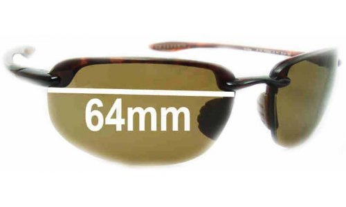 Sunglass Fix Replacement Lenses for Maui Jim Ho'okipa MJ407 - 64mm Wide