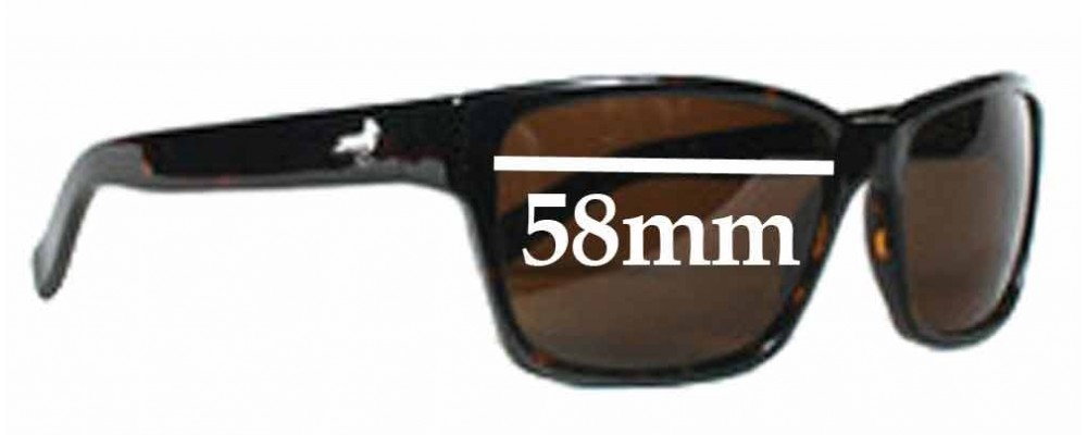 Modern Amusement 30's Replacement Sunglass Lenses - 58MM wide