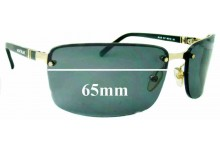 Sunglass Fix New Replacement Lenses for Montblanc MB 33S - 65mm Wide