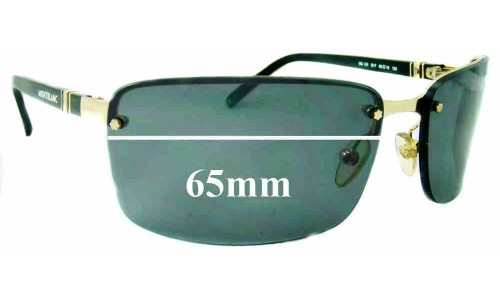 Montblanc MB 33S Replacement Sunglass Lenses 65 mm wide