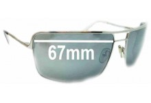 Morrissey Charmer Replacement Sunglass Lenses - 67mm Wide ** SORRY - THE SUNGLASS FIX CANNOT MAKE THESE LENSES**