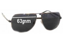 Morrissey Mile High Replacement Sunglass Lenses - 63mm Wide